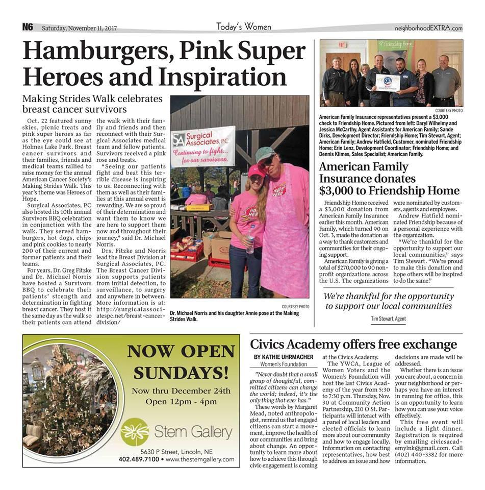 Hamburgers, Pink Superheroes and Inspiration